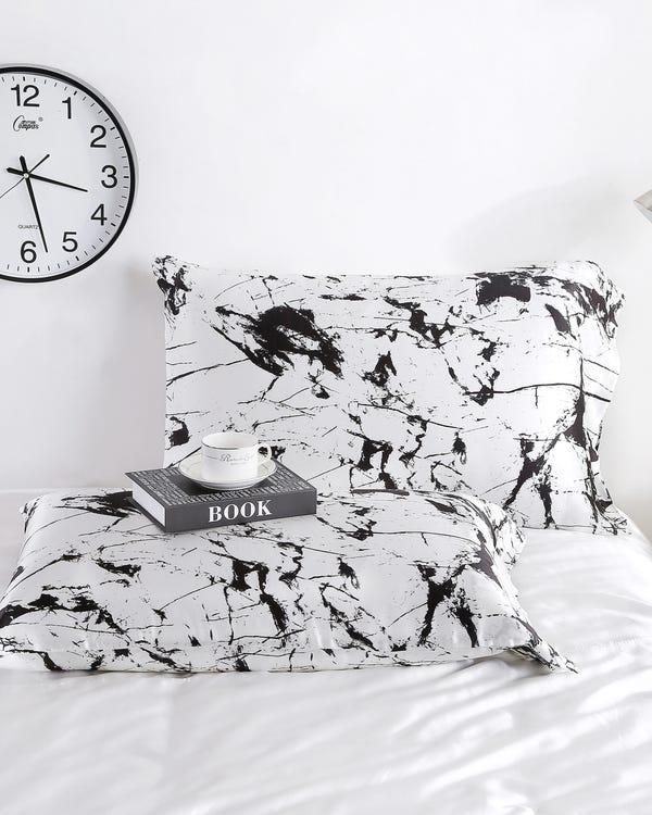 19 Momme Marbling Print Silk Envelope Pillowcase