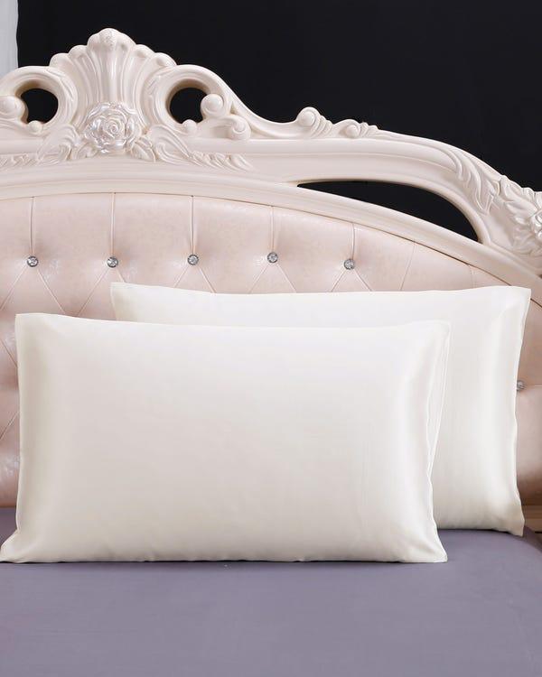 22匁シルク枕カバー【額縁付き】【封筒式】