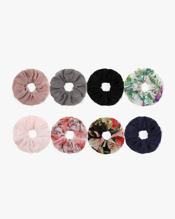 Spring and Summer Light Silk Scrunchie