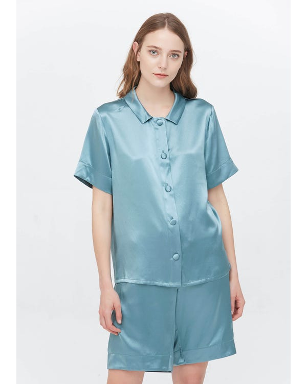 22 Momme Sweet Silk Short Pajamas Set