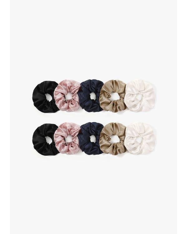 Blommor Silke Hår Scrunchy