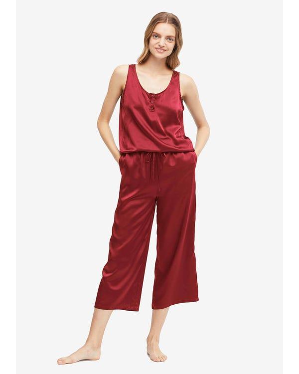 22 Momme Lätt Silk Jumpsuit Pyjama