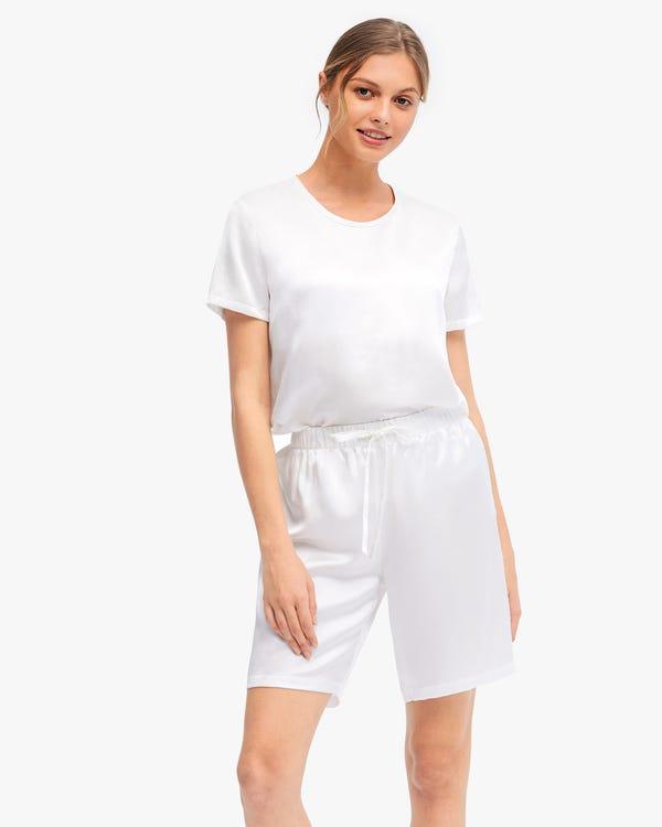 Bra-In Silk Loungewear Women Shorts Set