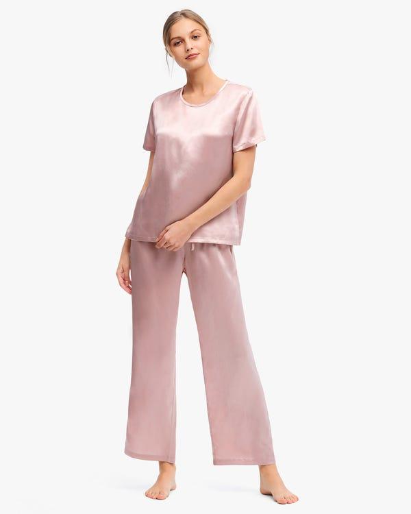 Bra-In Silk Loungewear Women Pants Set