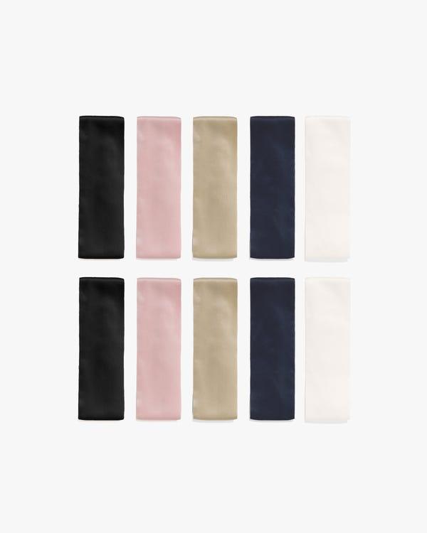 Multi-Use Pure Color Silk Headband