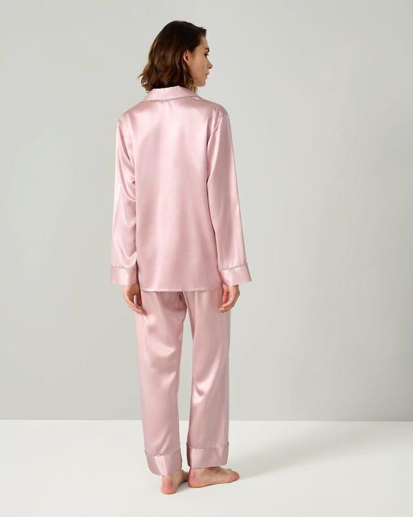 Pyjamas För Kvinnor I Siden Med Strass-hover