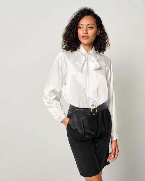 Vintage Skjorta Med Silkeslinne-hover