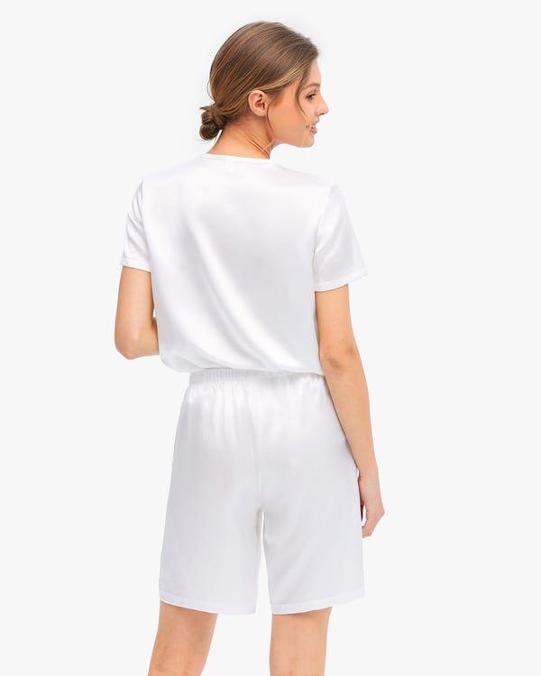 Bra-In Silk Loungewear Women Shorts Set-hover