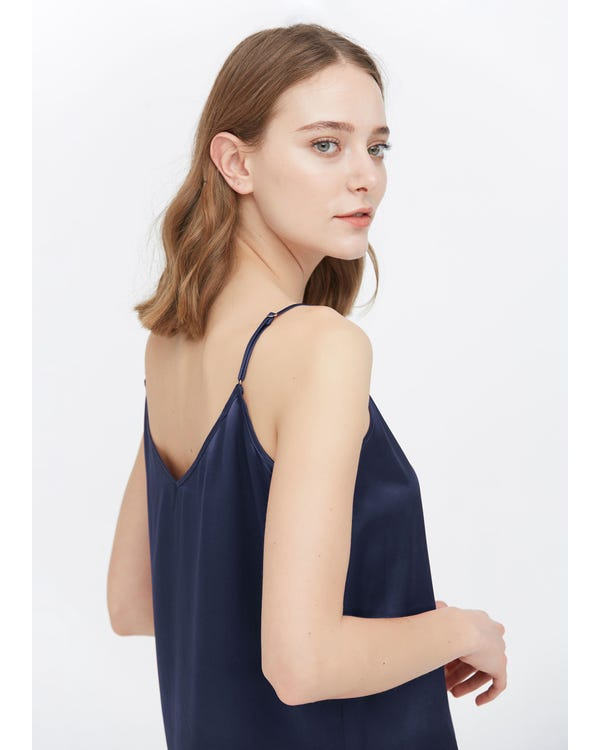 V Neck Front and Back Silk Camisole-hover