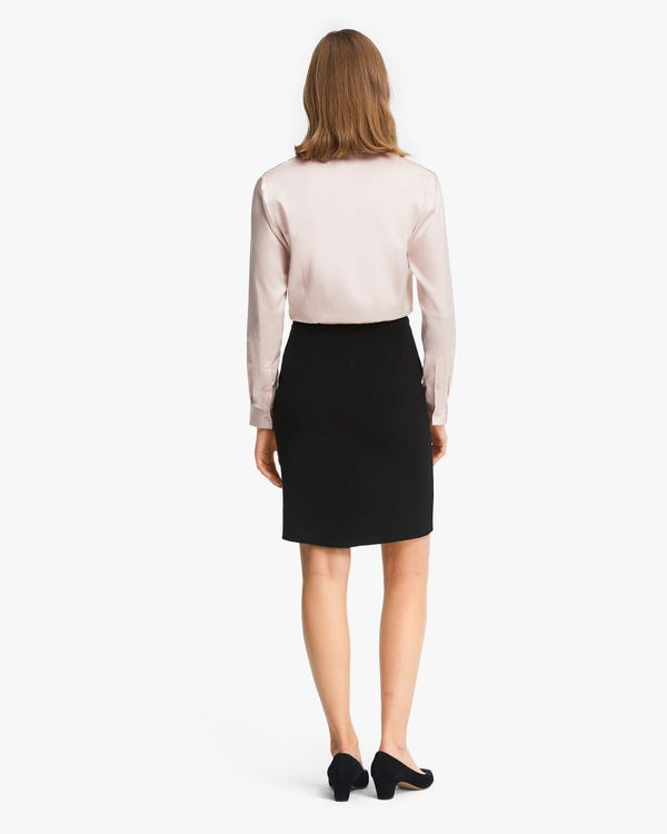 Classic Silk Business Shirt For Women Light-Beige XS-hover