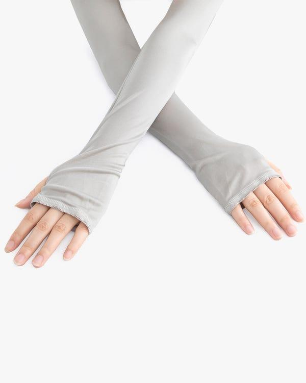 Elastiska Silke Stickad Skyddsärmar-hover