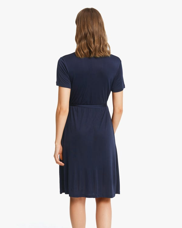 Pure Color Silk Knit Dress-hover