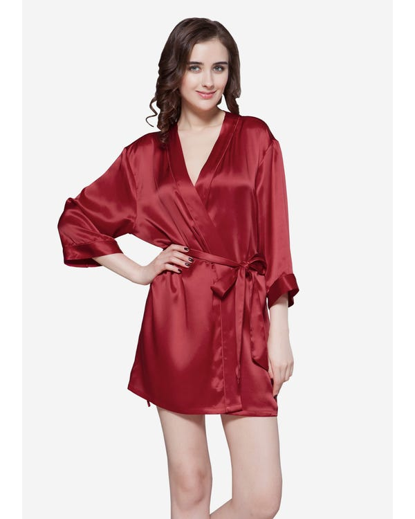 22 Momme Mini Cut Silk Robe