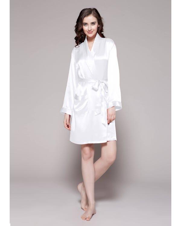 22 Momme Mid Length Silk Robe