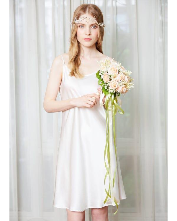22 Momme Feminine Silk Chemise White 2X-hover