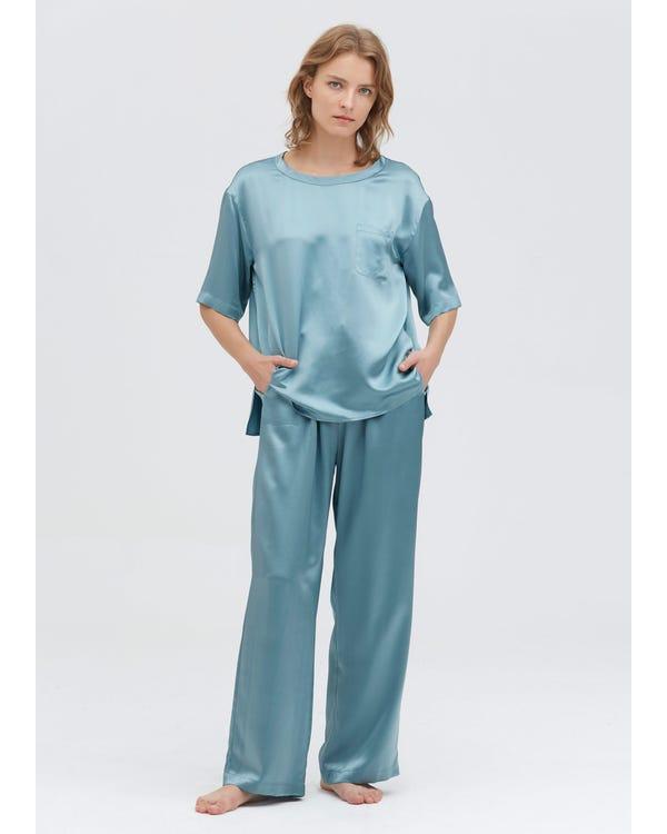 22 Momme Pyjamas Set Med Rund Hals