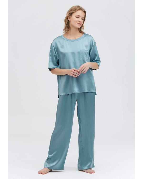 22 Momme Pyjamas Set Med Rund Hals-hover