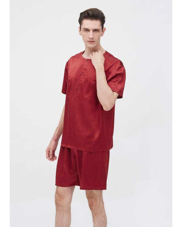 22 Momme Simple Crew Neck Short Pajamas Set