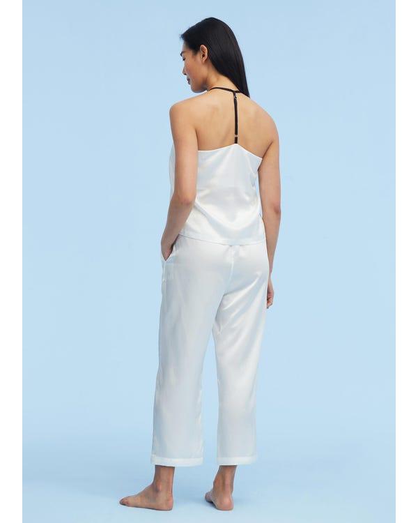 T Strap Casual Silk Camisole Set-hover