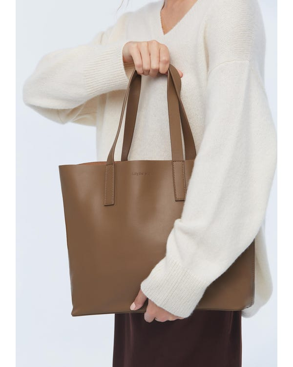 The Tote Leather Bag-hover