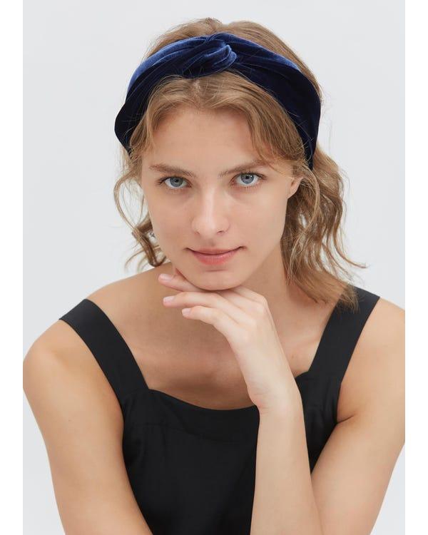 Vintage Wide-Brimmed Silk Velvet Turban Headband