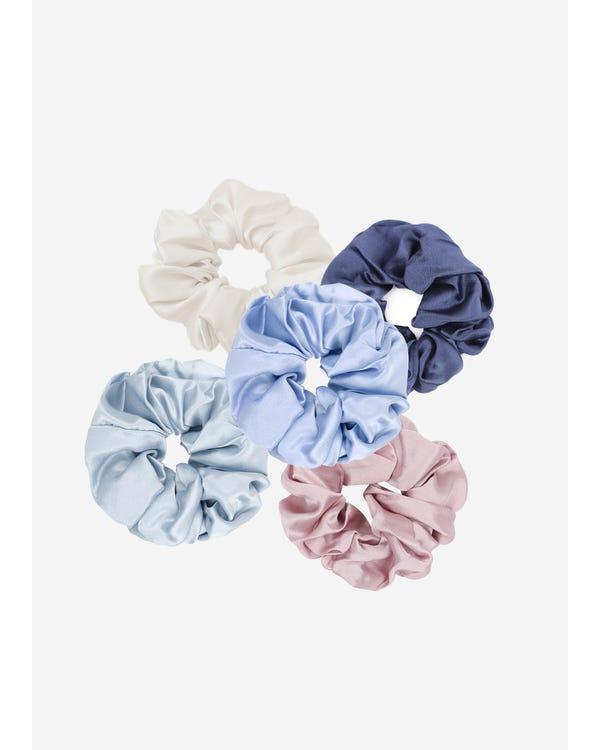 Blommor Silke Hår Scrunchy-hover