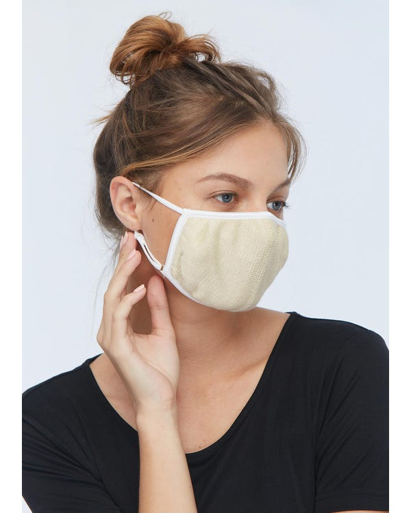 Soft Silk Knitted Mouth Mask