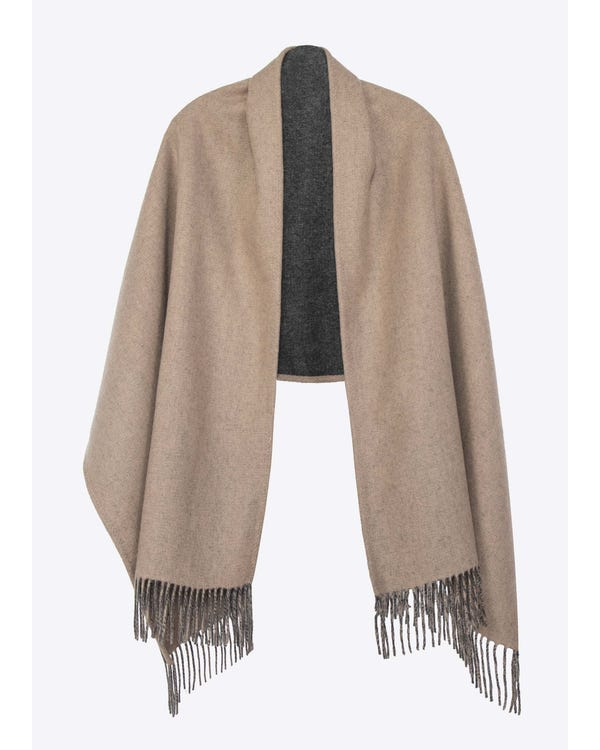 Timeless Contrast Color Woolen Shawl