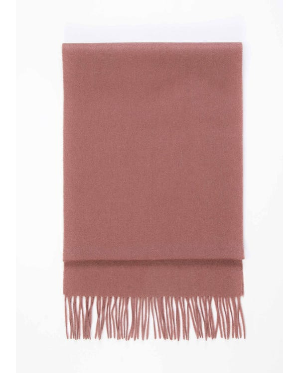 Chic Pure Color Cashmere Scarf With Fringed Decoration-hover