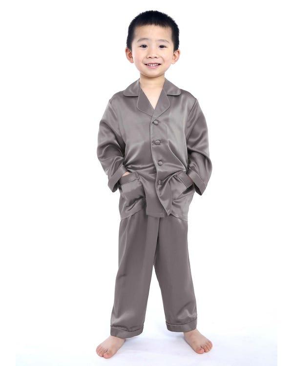 Silk Button Down Pajama For Boys-hover