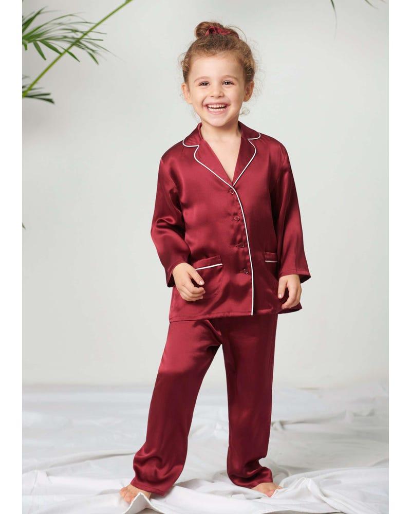 Klassiska Silke Pyjamas Set För Barn