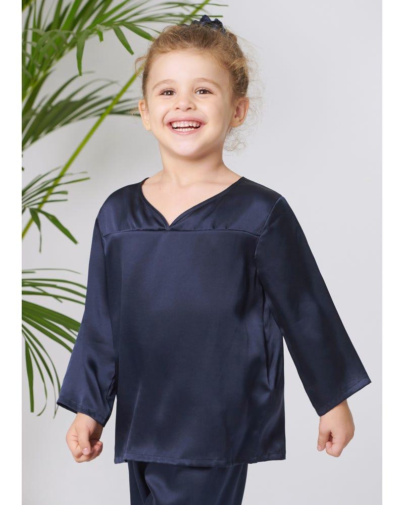 Pullover Silke Pajama Set För Barn