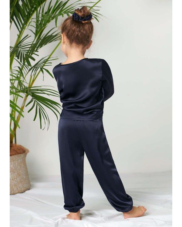 Pullover Silke Pajama Set För Barn-hover