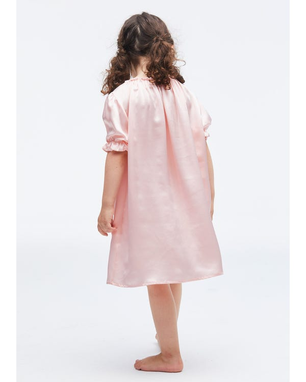 Classic Silk Nightgown For Kids-hover