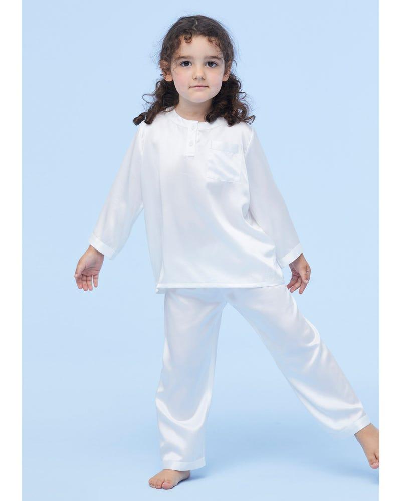 Klassiska Runda Halspyjamas För Barn