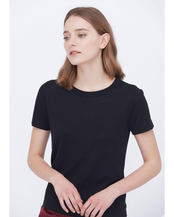 Soft Pure Silk Knitted T-shirt