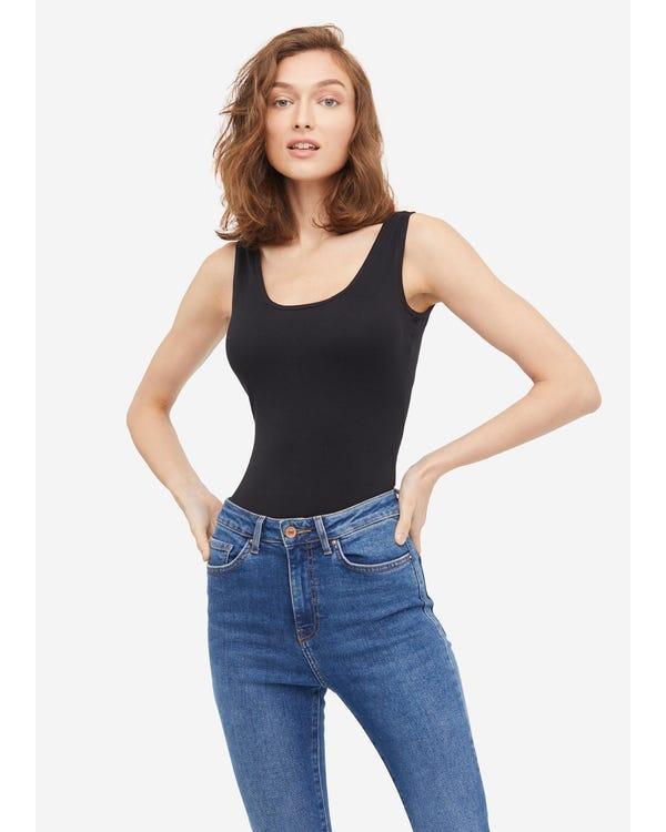 Kvinnors Sidenstickad Bodysuit Camisole