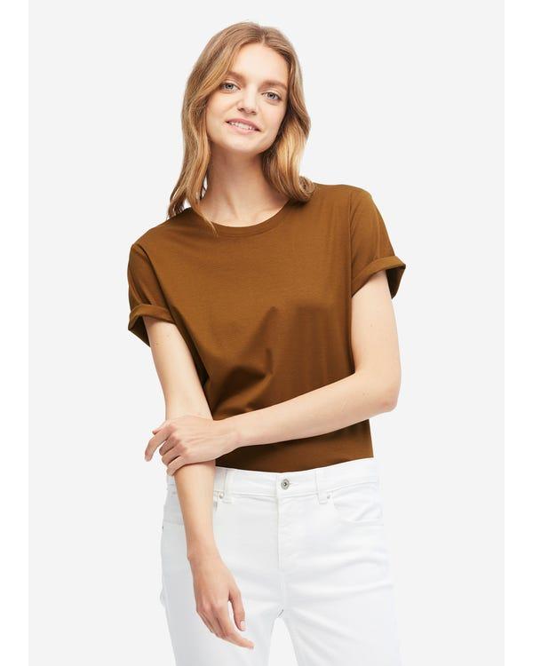 Basic Silk Cotton Blend T-shirts