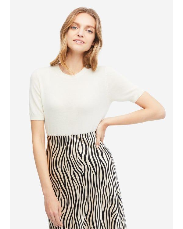 Women's Solid Color Cashmere Knit T-Shirt