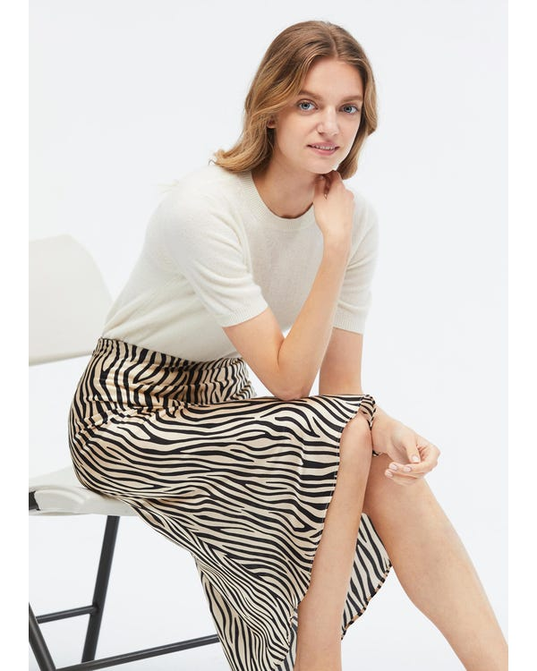 Women's Solid Color Cashmere Knit T-Shirt-hover