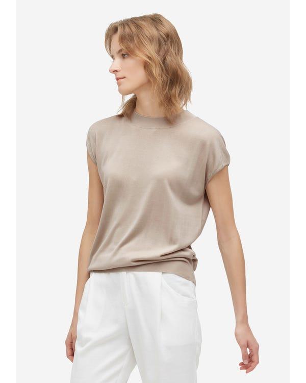 Trendig Rund Hals-stickad T-shirt