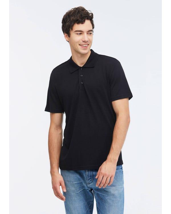 Poloskjorta Med Mörkt Mönster-hover