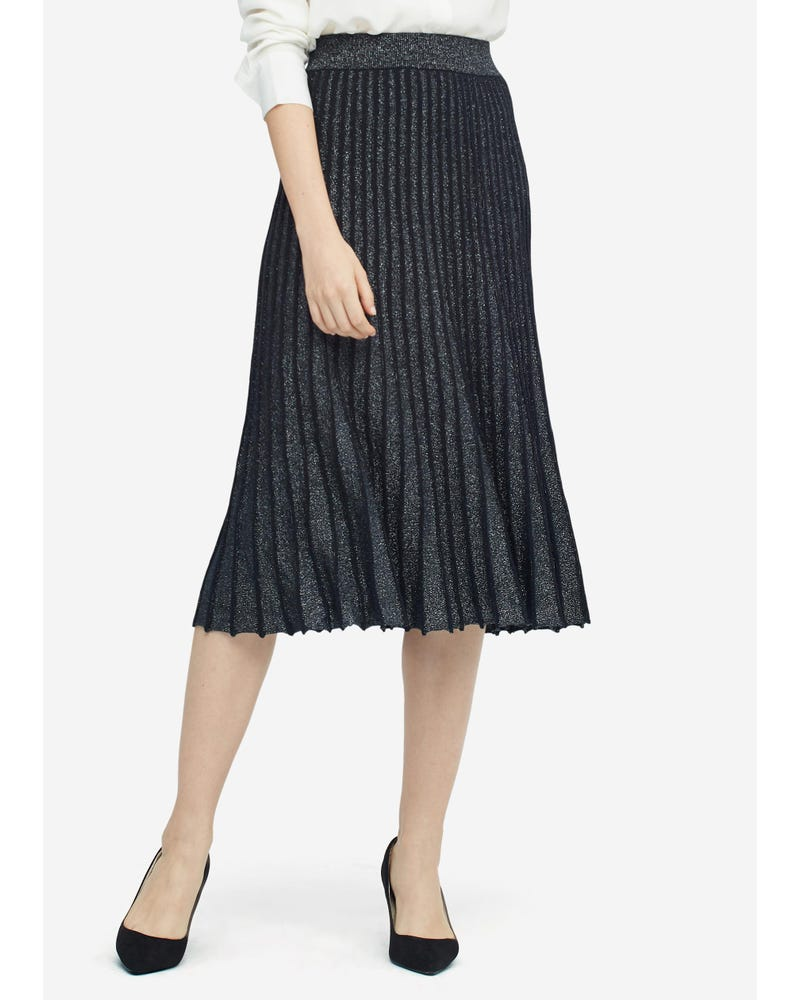 Gorgeous Draped Silk Knitted Pleated Skirt