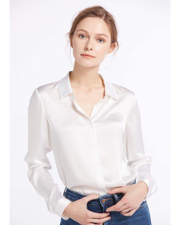 Klassisk Sidenskjorta