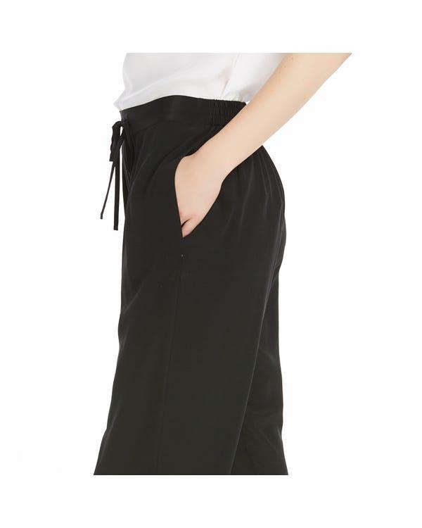 【18匁】レディース シルク ズボン【プリーツ ロング丈】