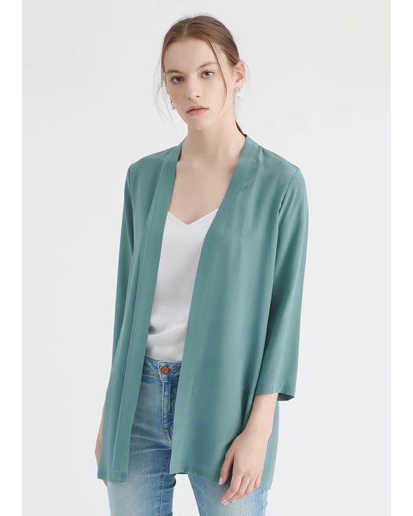 Lätt Matchande Siden Kimono