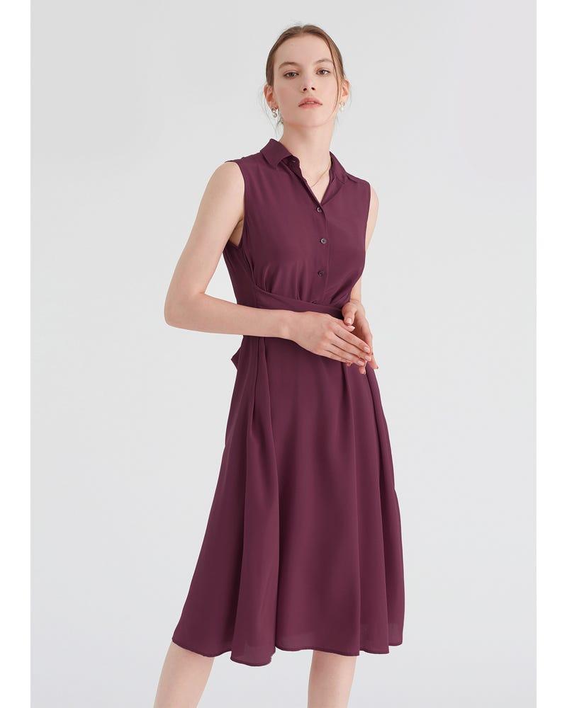 Body Flattering Silk Shirt Dress