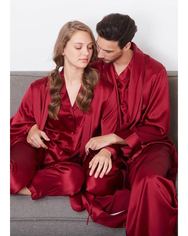 22 Momme Långa Ärmar Par Morgonrockar & Pyjamas Set