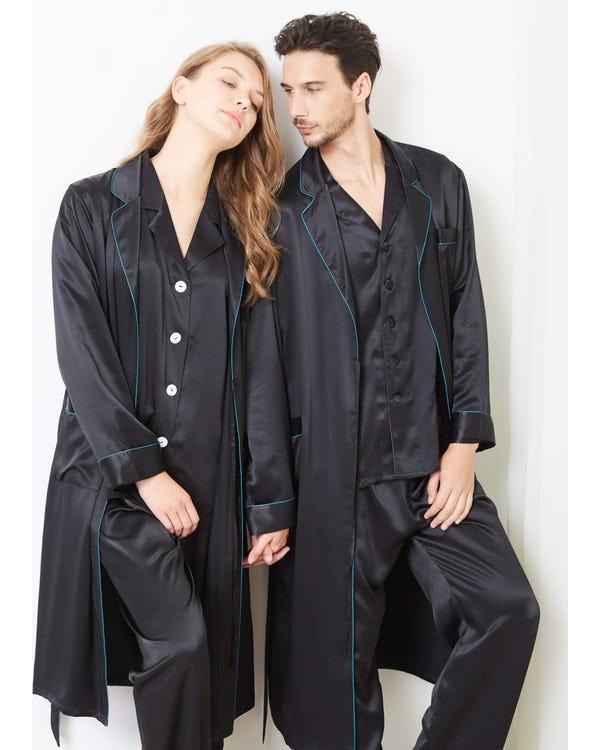 22 Momme Eleganta Par Morgonrockar & Pyjamas Set