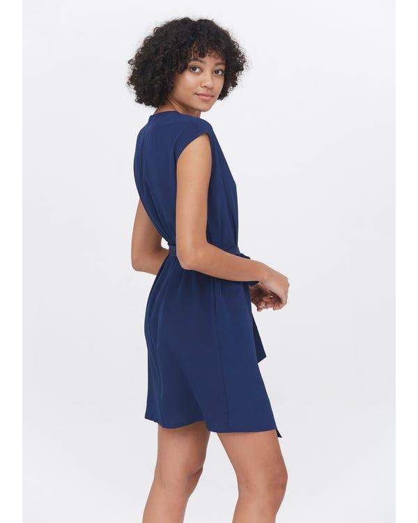 Elegant Silk V-Neck wrap Dress-hover